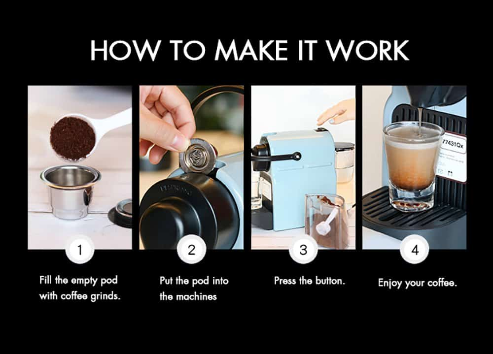 How to use the reusable nespresso pods