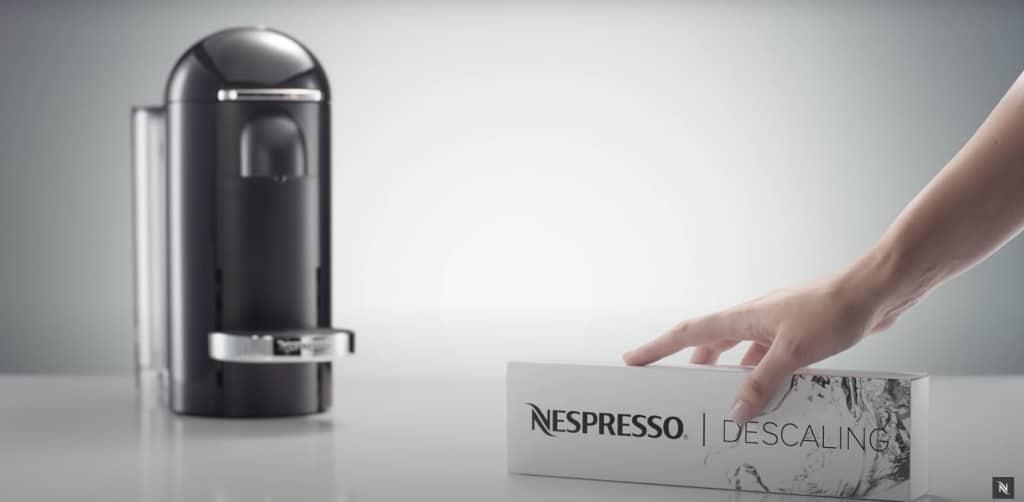 how to descale a nespresso machine